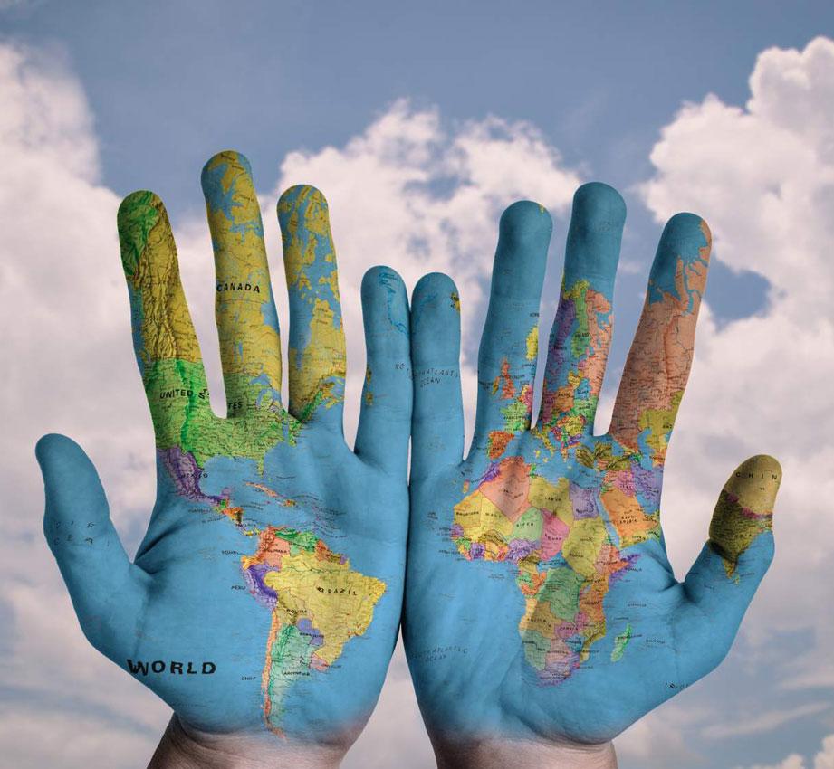 mundo en las manos